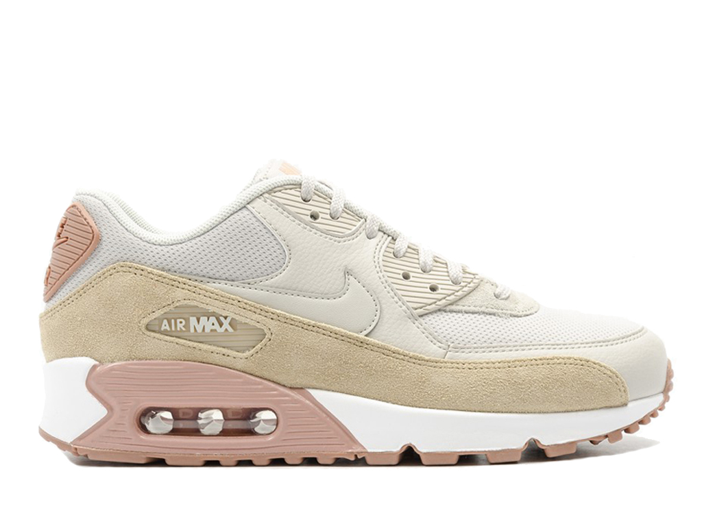 Nike Air Max 90 325213 046 Sneakers pas cher femme Brown Blanc