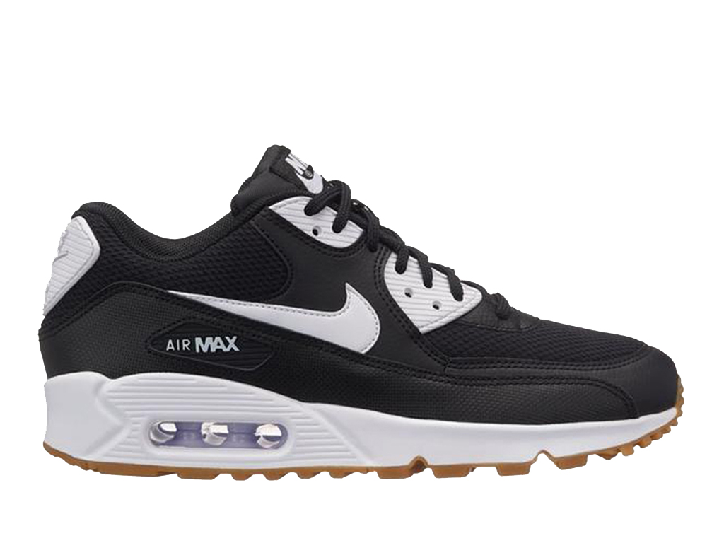 pretty nice b08ef cce98 Nike Air Max 90 325213 055 Sneakers pas cher femme Noir Blanc
