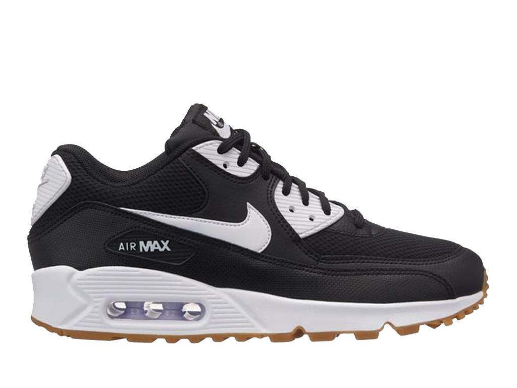 pretty nice 318ec e6da3 Nike Air Max 90 325213 055 Sneakers pas cher femme Noir Blanc