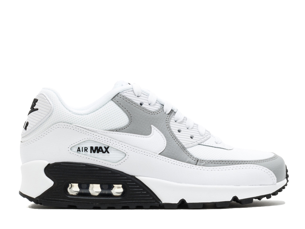 new product 46c6f f1088 Nike Air Max 90 325213-126 Sneakers pas cher femme Blanc Noir