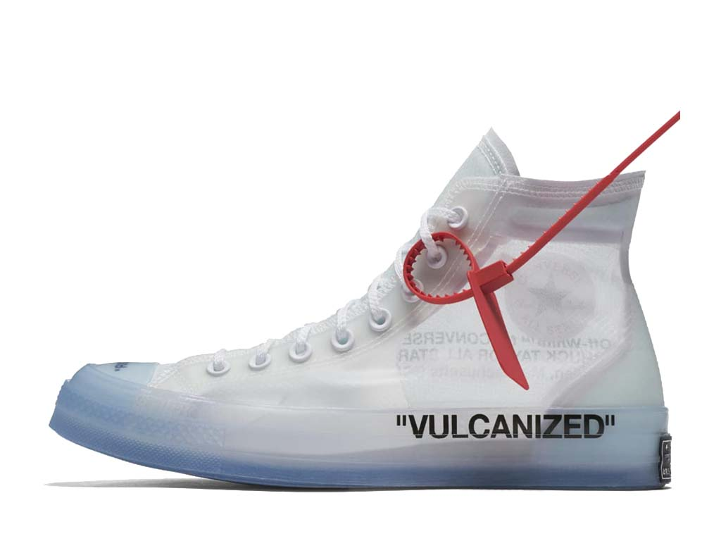 Off-White x Converse Chuck Taylor 161034C Officiel Chaussures Sneaker Homme Femme blanc