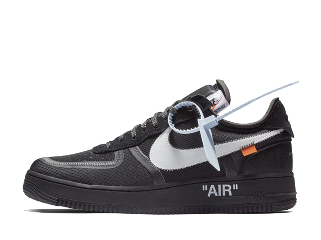 Off-White x Nike Air Force 1 AF1 OW AO4606-001 Officiel Chaussures Sneaker Homme Femme Blanc noir
