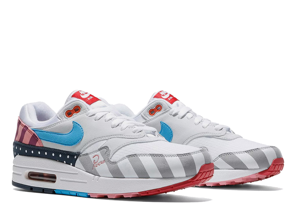 Off-White x Nike Air Max Parra AT3057-100 Officiel Chaussures Sneaker Homme Femme Bleu blanc rose