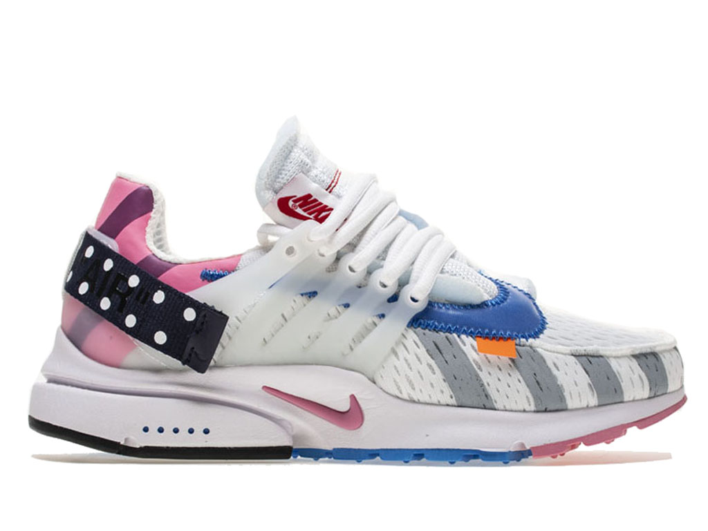 Off-White x Nike Air Presto OW AA3830-140 Officiel Chaussures Basket-ball Sneaker Homme Femme Bleu blanc rose