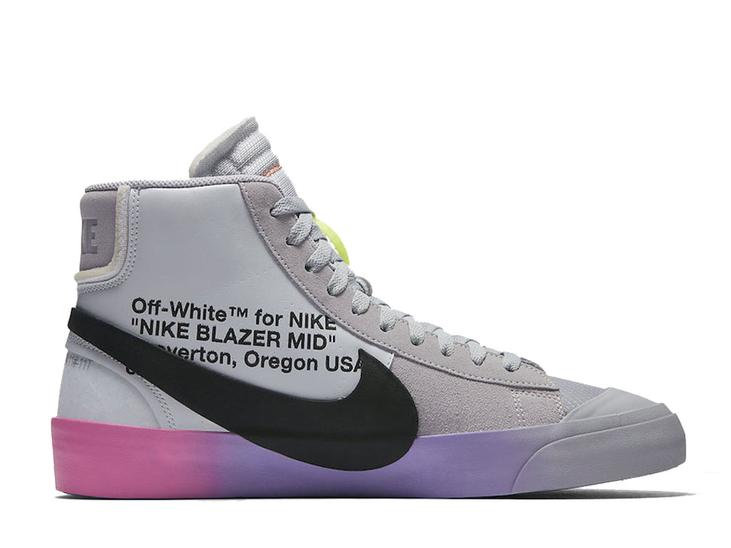 Off-White x Nike Blazer The Queen AA3832-002 Officiel Chaussures Sneaker Homme Femme Gris noir rose