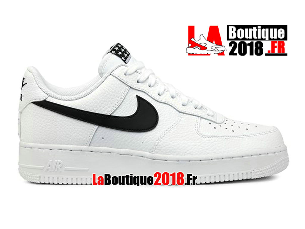 Officiel Nike Air Force 1 07 Lifestyle Blanc Noir AA4083-103 Chaussures Nike Sneaker Pas Cher Pour Homme