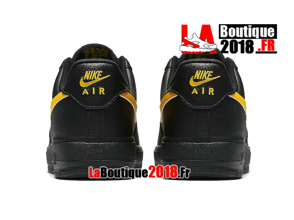 Officiel Nike Air Force 1 07 LV8 Low Black Amarillo AA4083-002 Chaussures Nike Sneaker Pas Cher Pour Homme