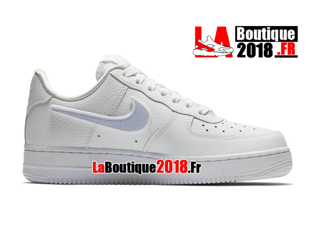 new style 848f5 bb74b Official Nike Air Force 1-100 Detachable Logo Sneaker White/Blue AQ3621-111