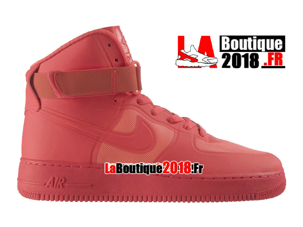 Officiel Nike Air Force 1 High Hyperfuse Premium - Chaussure Nike Sneaker Pas Cher Pour Homme Rouge Solaire/Rouge Solaire 454433-600H