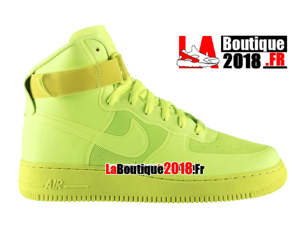 Officiel Nike Air Force 1 High Hyperfuse Premium - Chaussure Nike Sneaker Pas Cher Pour Homme Volt 454433-700H