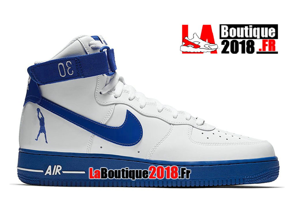 super popular fa383 76af9 Officiel Nike Air Force 1 High Sheed Rude Awakening Blanc Bleu AQ4229-100  Chaussures