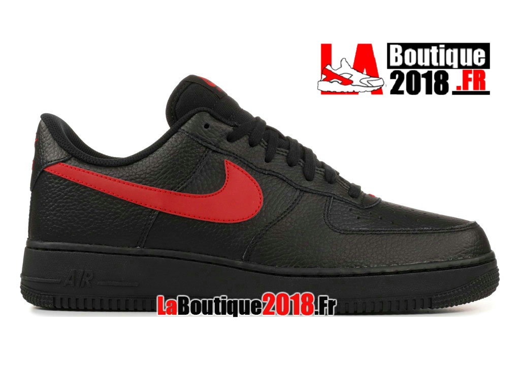 Officiel Nike Air Force 1 Low Black Gym Red AA4083-011 Chaussures Nike Sneaker Pas Cher Pour Homme