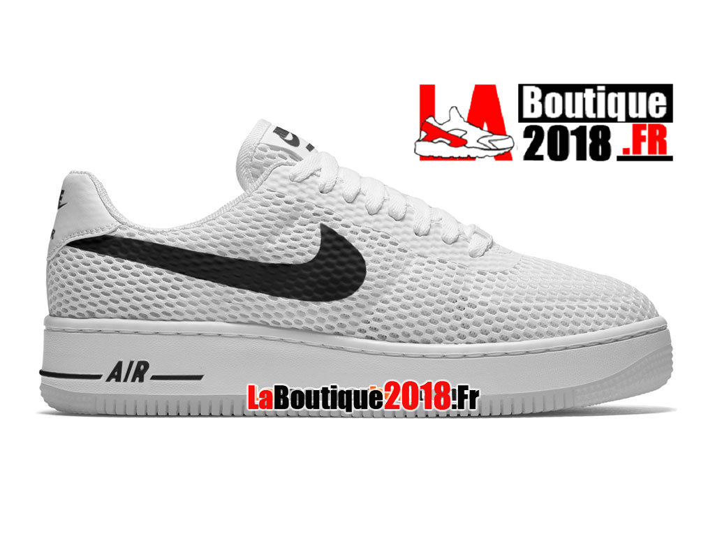 Officiel Nike Air Force 1 Low Upstep BR - Chaussures Nike Sneaker Pas Cher Pour Homme Blanc/Noir 833123-010iD-H