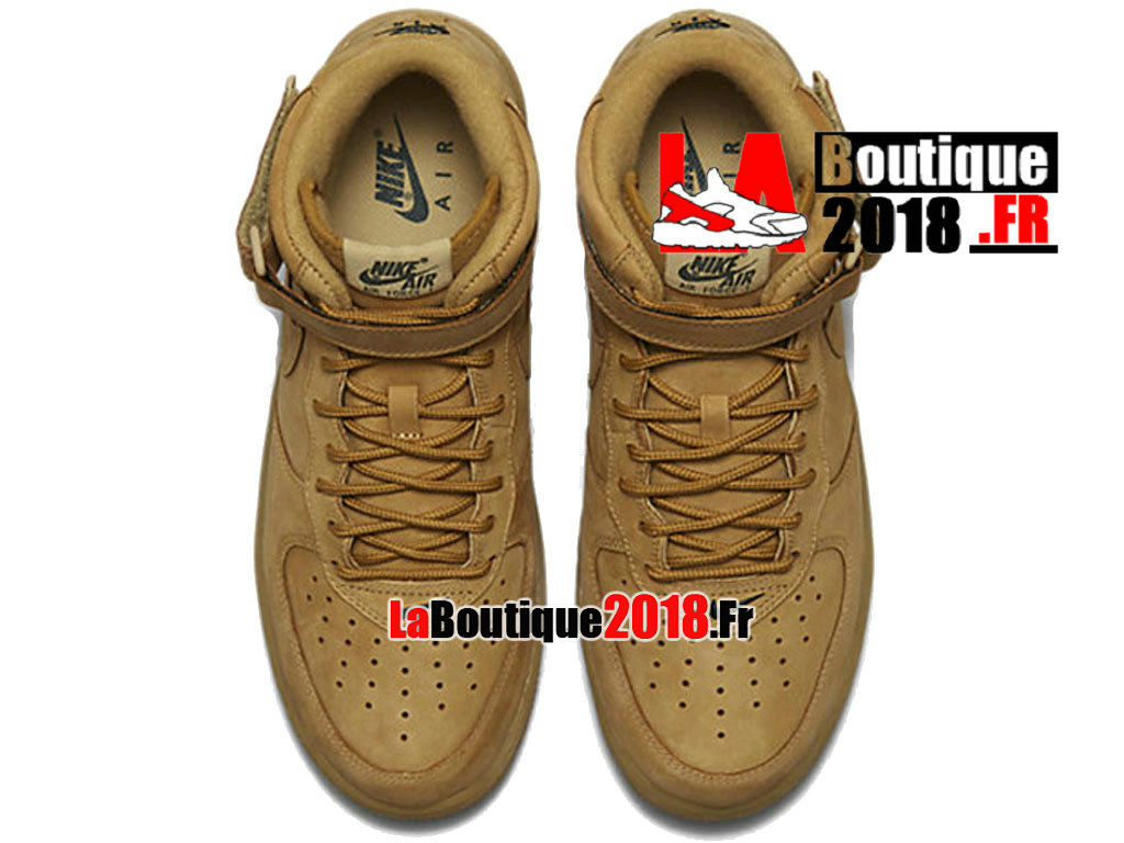 "Officiel Nike Air Force 1 Mid ""Flax Collection"" - Chaussure Nike Mi-Montante Pas Cher Pour Homme Lin/Vert nature/Bronze 715889-200"