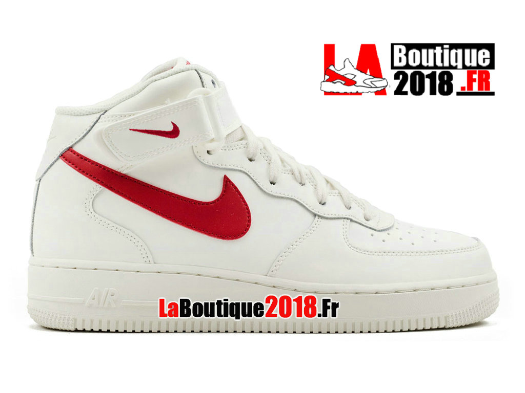 Officiel Nike Air Force 1 Mid Sail University Red 315123-126 Chaussures Nike Sneaker Pas Cher Pour Homme