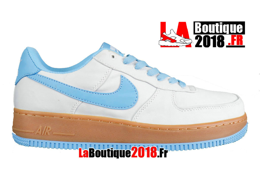 Officiel Nike Air Force 1 Upstep White Blue 596728-102 Chaussures Nike Sneaker Pas Cher Pour Homme