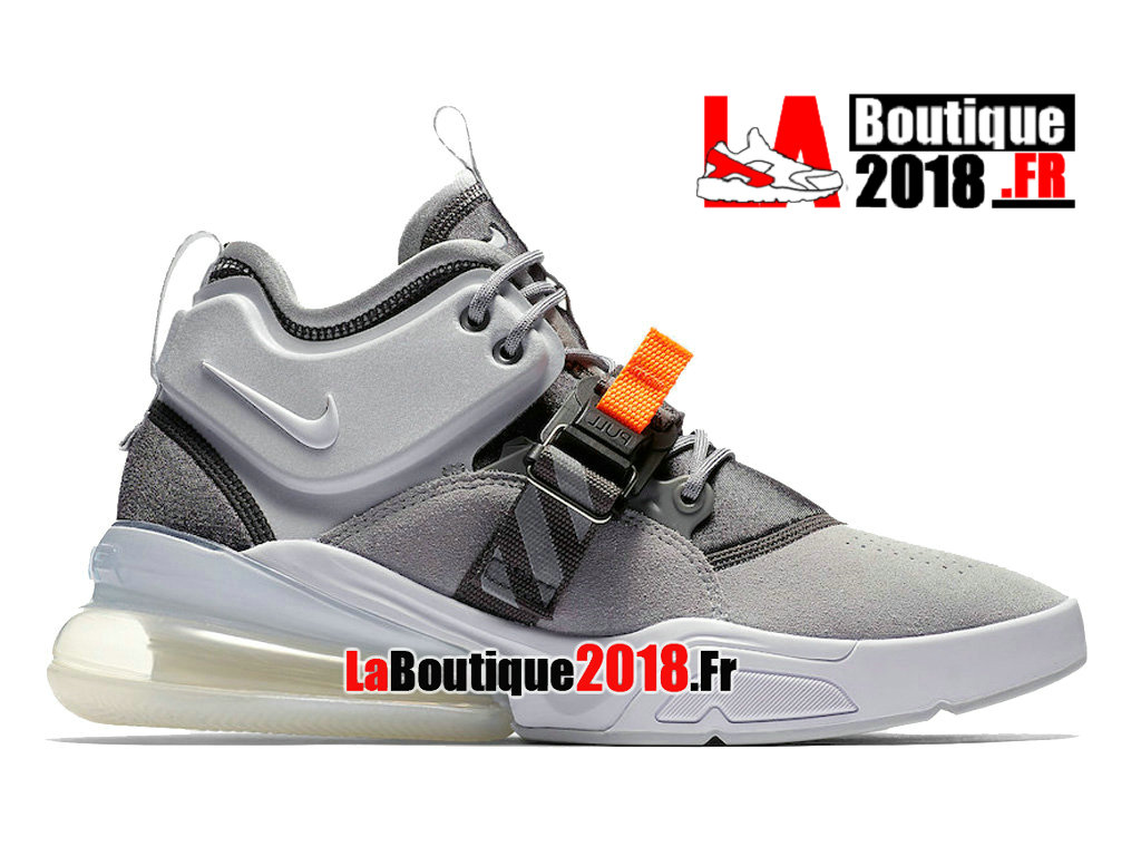 Officiel Nike Air Force 270 Vintage Box Logo Grey Orange AH6772-002 Chaussures Nike Sneaker  Pas Cher Pour Homme