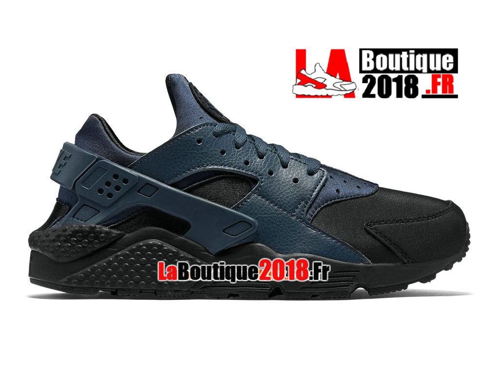 best service 2686d 3011f Official Nike Air Huarache Run Premium - Men´s Nike Sneaker Shoe Black/Blue