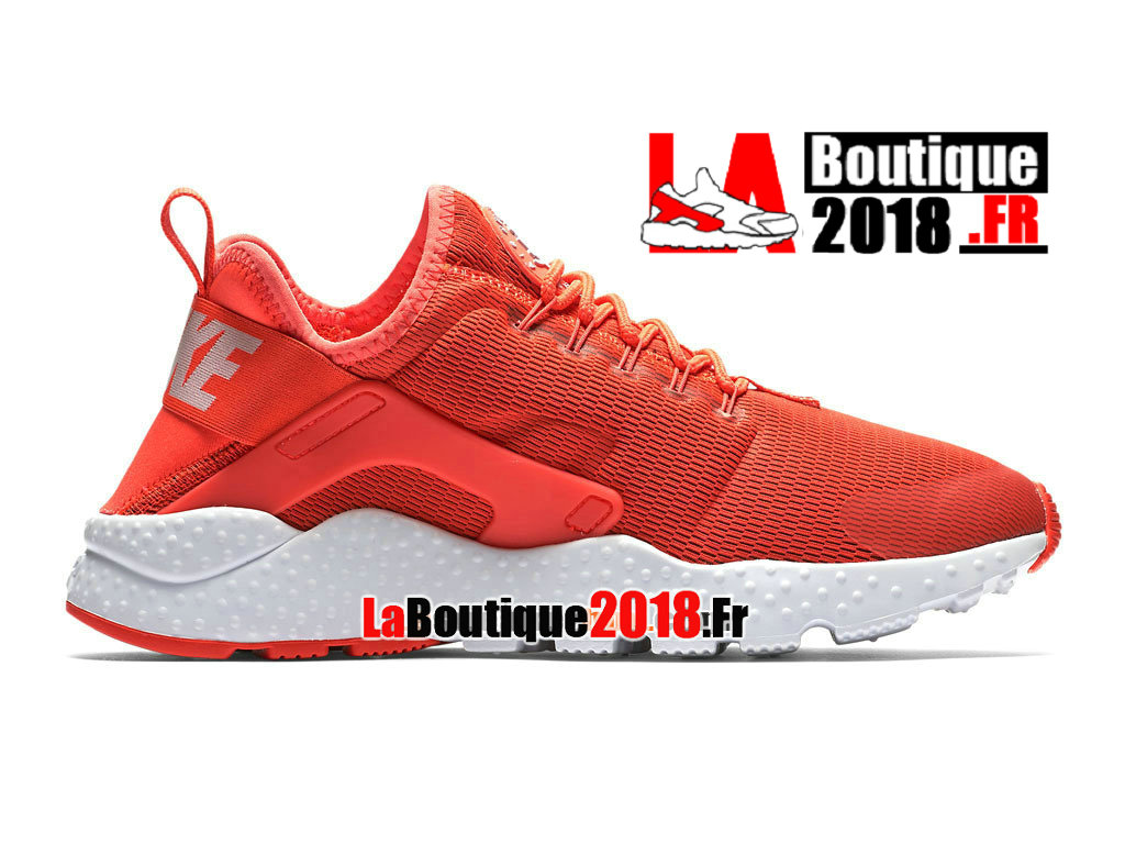 Officiel Nike Air Huarache Ultra - Chaussures Nike Sneaker Pas Cher Pour Homme Cramoisi brillant/Blanc 819151-600H