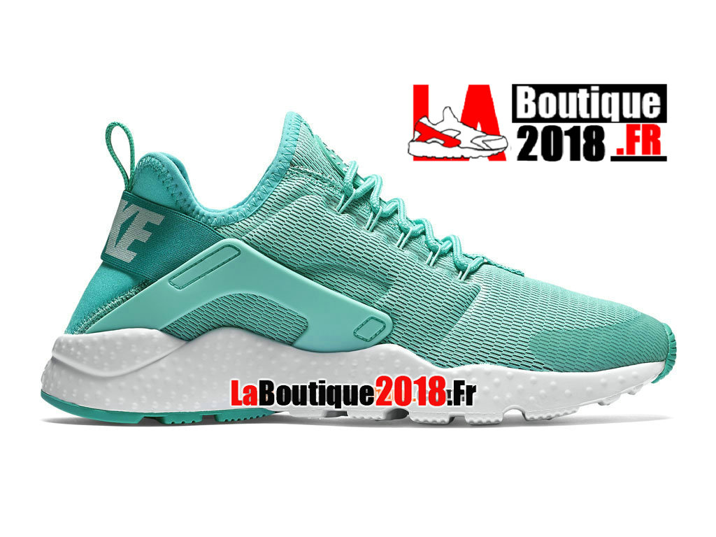 Officiel Nike Air Huarache Ultra - Chaussures Nike Sneaker Pas Cher Pour Homme Hyper turquoise/Blanc/Blanc 819151-300H