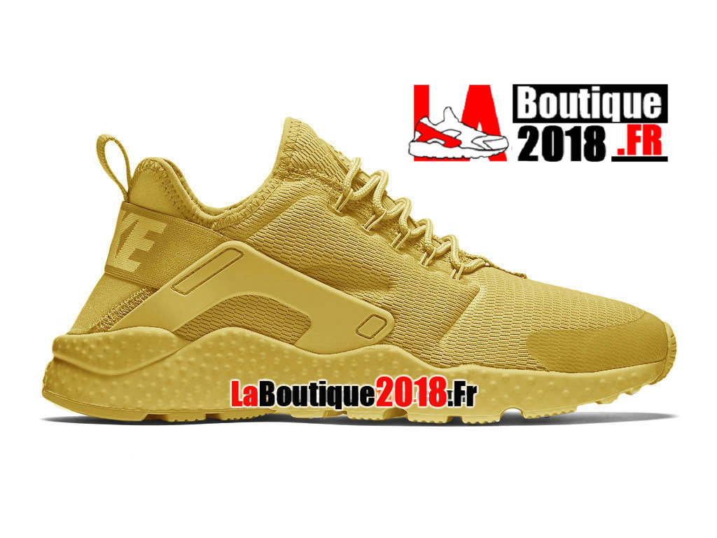 Officiel Nike Air Huarache Ultra (Nike iD) - Chaussures Nike Sneaker Pas Cher Pour Homme Or canyon/Or université/Or canyon 819151-991H