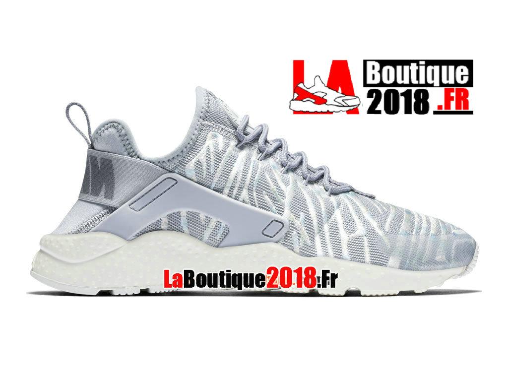the latest 82174 b1e0b Officiel Nike Air Huarache Ultra Premium - Chaussures Nike Sneaker Pas Cher  Pour Homme Gris loup