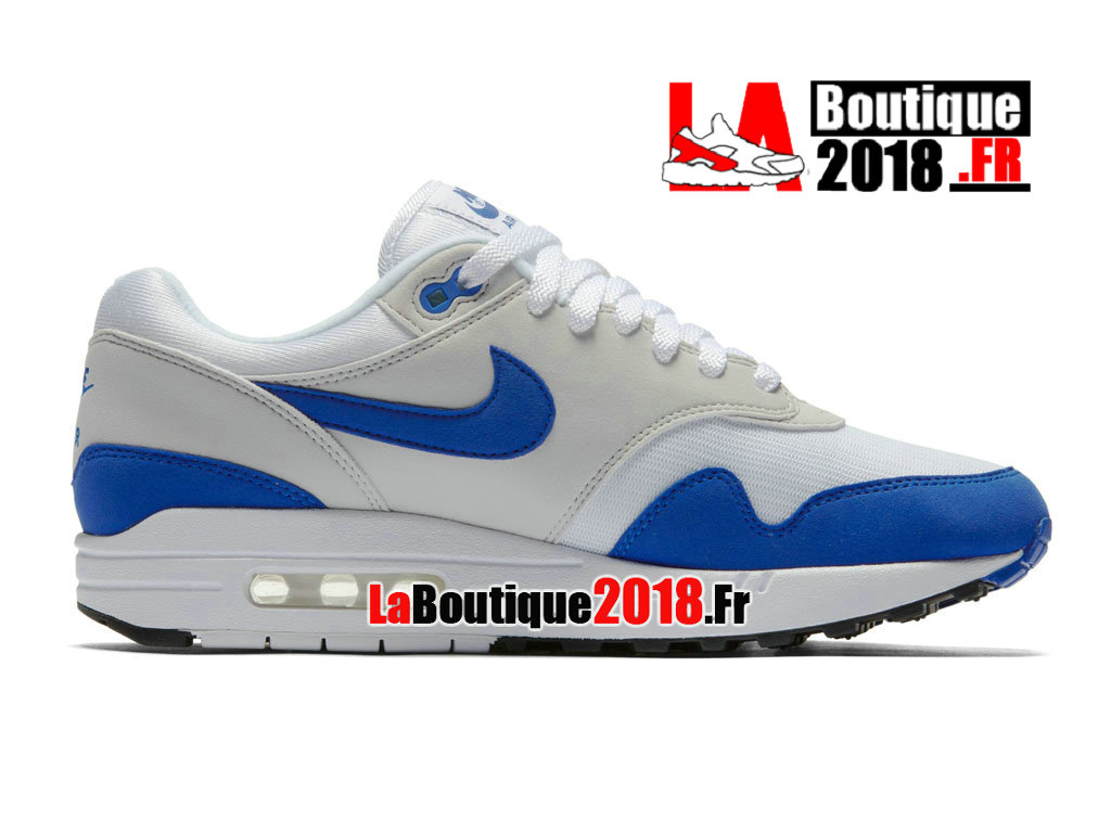 Officiel Nike Air Max 1 Anniversary Royal Release Date 908375-101 Chaussure Nike Sneaker Pas Cher Pour Homme