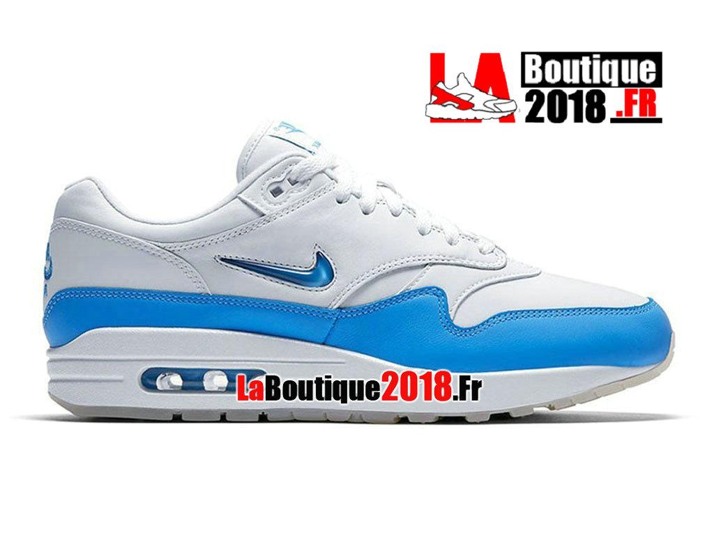 super popular 50a8f 8ef50 Official Nike Air Max 1 Premium SC White Blue 918354-102 Men´s