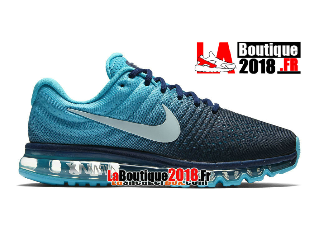 new style 66557 ded6f Officiel Nike Air Max 2017 - Chaussure Nike Sneaker Pas Cher Pour Homme Bleu  binaire