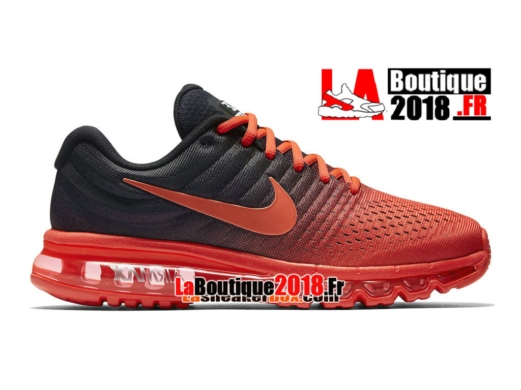 Officiel Nike Air Max 2017 - Chaussure Nike Sneaker Pas Cher Pour Homme Cramoisi brillant/Noir/Cramoisi total 849559-600
