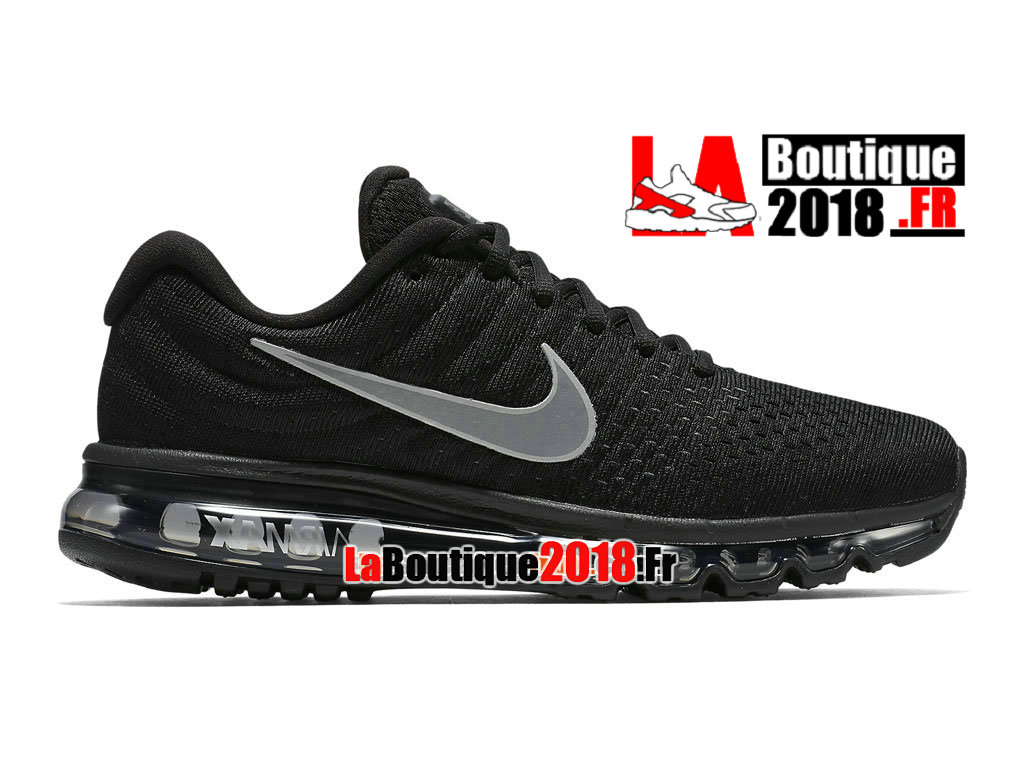 Officiel Nike Air Max 2017 - Chaussure Nike Sneaker Pas Cher Pour Homme Noir/Anthracite/Blanc 849559-001