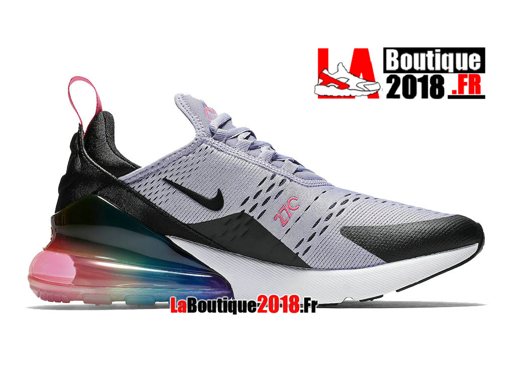 sale retailer c86fa 1a67e Officiel Nike Air Max 270 Be True Gris Noir Rouge Bleu AR0344-