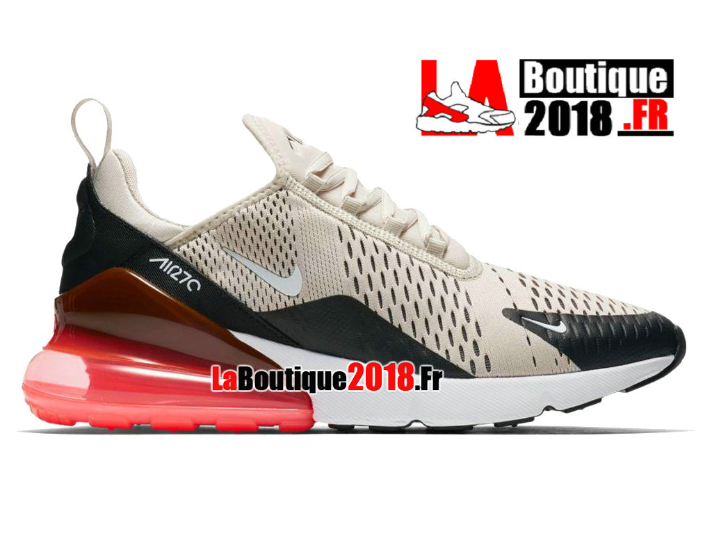 Officiel Nike Air Max 270 - Chaussure Nike Sneaker Pas Cher Pour Homme Light Bone Hot Punch AH8050-003