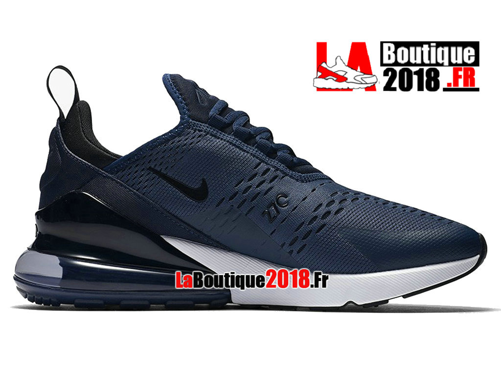 Officiel Nike Air Max 270 - Chaussure Nike Sneaker Pas Cher Pour Homme Midnight Navy Noir AH8050-400