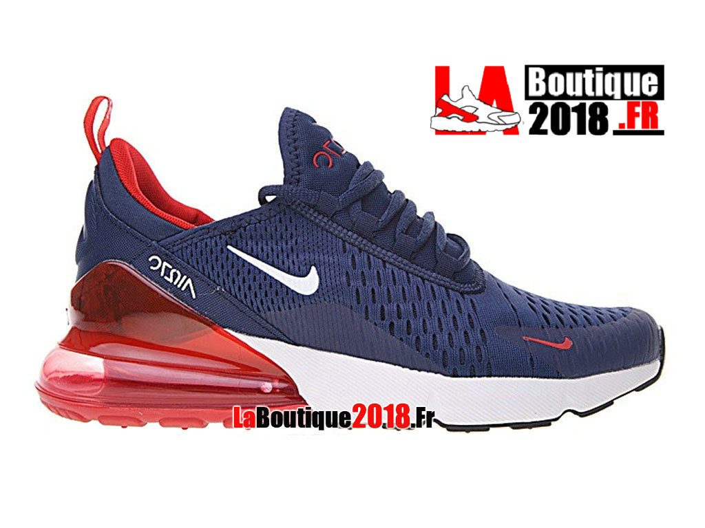 huge selection of a18eb 0bf22 Official Nike Air Max 270 Flyknit Bule Red AH8050-416 Men´s Nike SneakerShoe