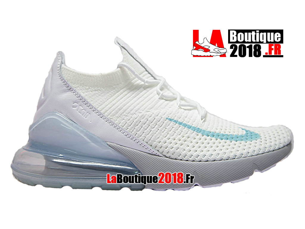 Officiel Nike Air Max 270 Flyknit - Chaussure Nike Sneaker Pas Cher Pour Homme Bleu AO1023-100