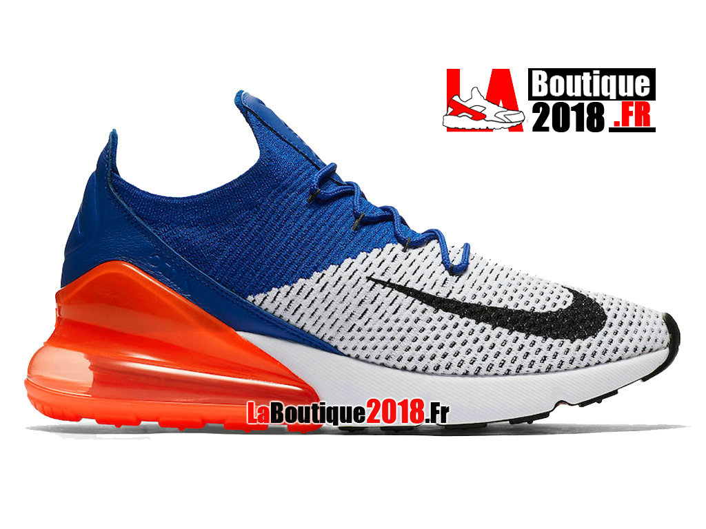 Officiel Nike Air Max 270 Flyknit - Chaussure Nike Sneaker Pas Cher Pour Homme Total Crimson AO1023-101