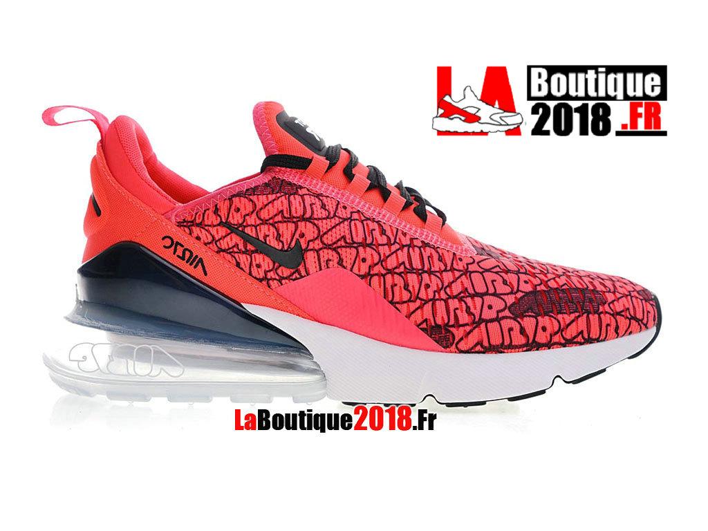 pretty nice 9b762 6a92c Officiel Nike Air Max 270 Flyknit Hyper Rose Noir Blanc BQ0742-996 Chaussure  Nike Sneaker