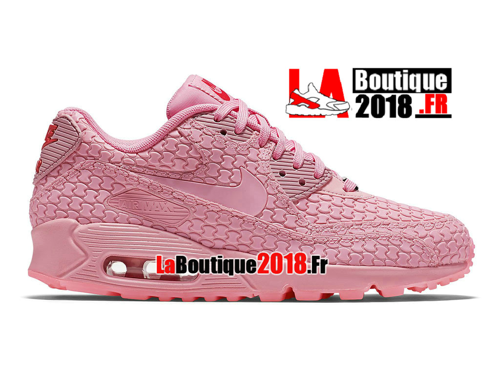 Officiel Nike Air Max 90 DMB QS - Chaussures Nike Sneaker Pas Cher Pour Femme/Fille Rose 813152-600