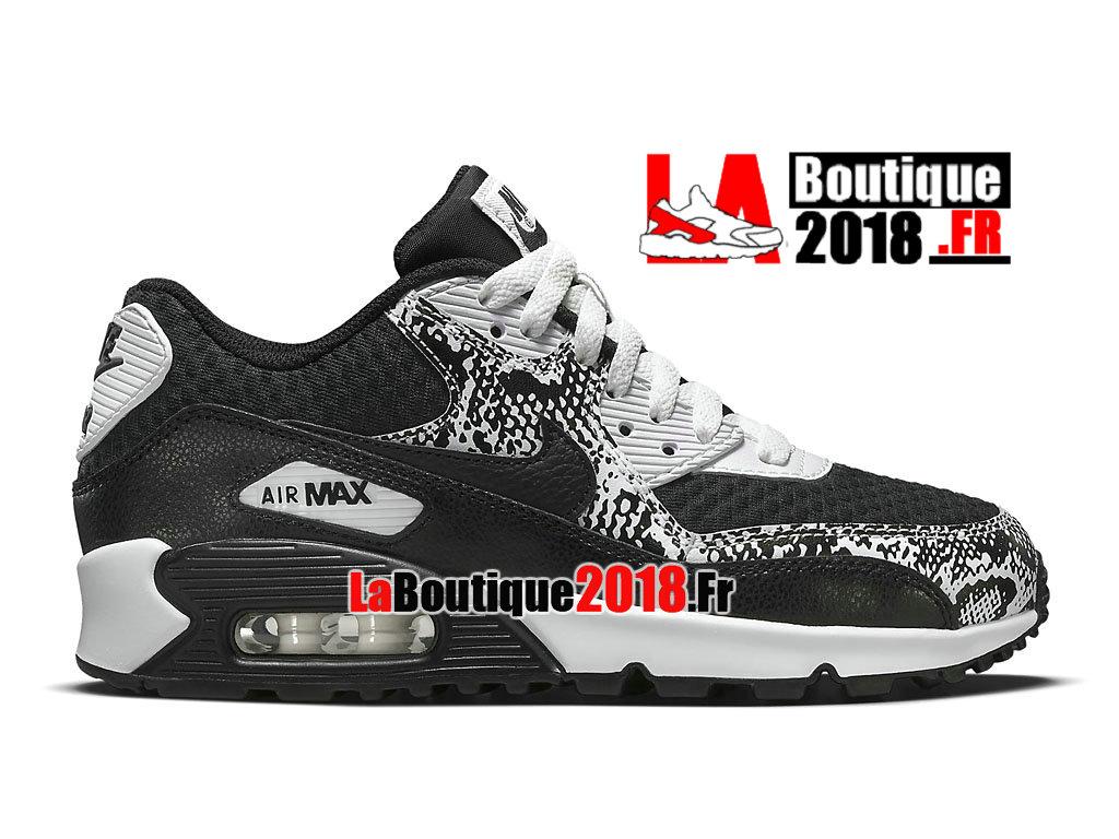 online store fac87 1b3cc Officiel Nike Air Max 90 GS - Chaussures Nike Sneaker Pas Cher Pour Femme  Enfant