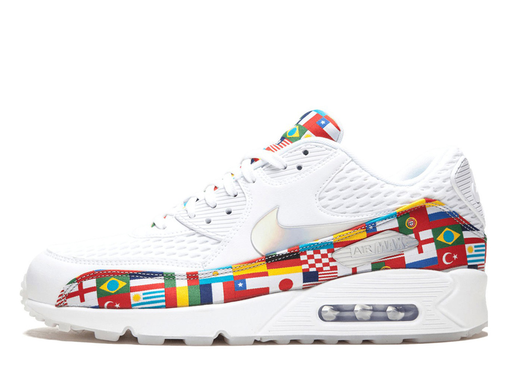 Officiel Nike Air Max 90 NIC QS Multi Chaussure Nike Sneaker Pas Cher Pour Homme Blanc rouge blanc AO5119-100