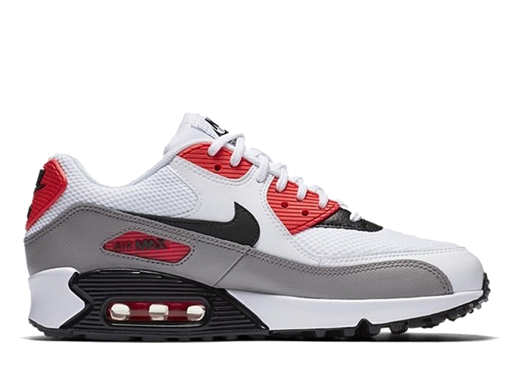info for fdc9c fed35 Official Nike Air Max 90 New Shoes Nike Sneaker Cheap For Men´s Gray white