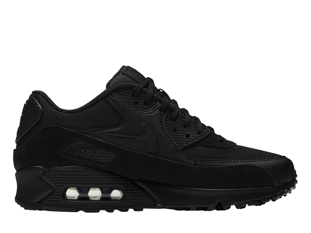 6179ddb0db1 Official Nike Air Max 90 New Men Nike Sneaker Cheap Shoes Black 325213-043