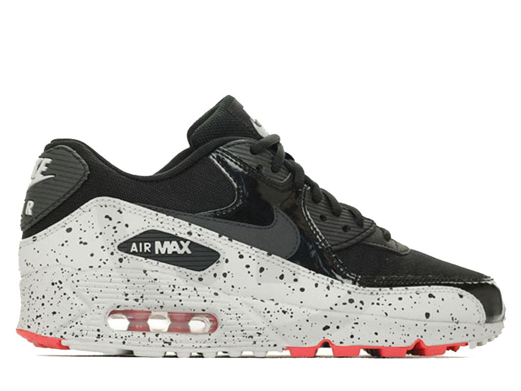 official photos e1eb2 756b5 Officiel Nike Air Max 90 Nouveau Chaussure Nike Sneaker Pas Cher Pour Homme  Noir blanc orange