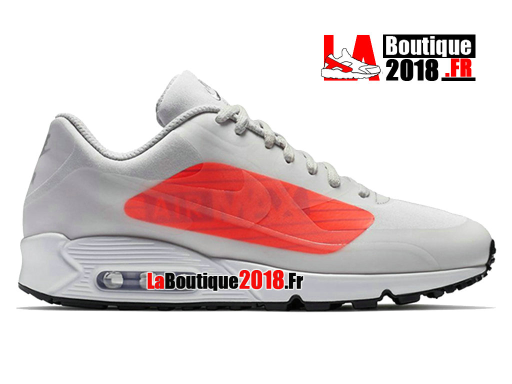 Officiel Nike Air Max 90 Ns Gpx Big Logo Natural Grey Light Crimson AJ7182-001 Chaussure Nike Sneaker Pas Cher Pour Homme