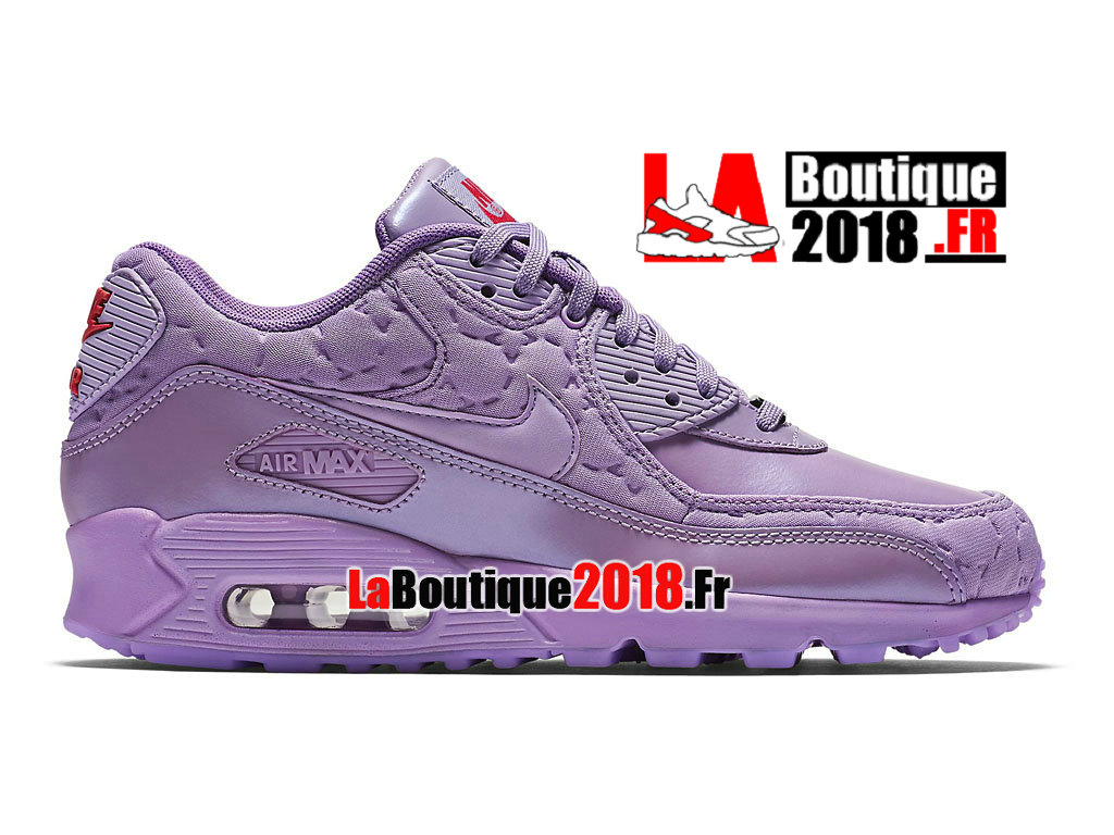 Officiel Nike Air Max 90 QS - Chaussures Nike Sneaker Pas Cher Pour Femme/Fille Rose 813150-500