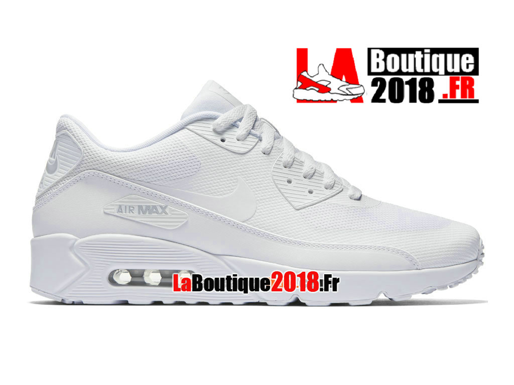 Officiel Nike Air Max 90 Ultra 2.0 Essential - Chaussure Nike Sneaker Pas Cher Pour Homme Blanc 875695-101