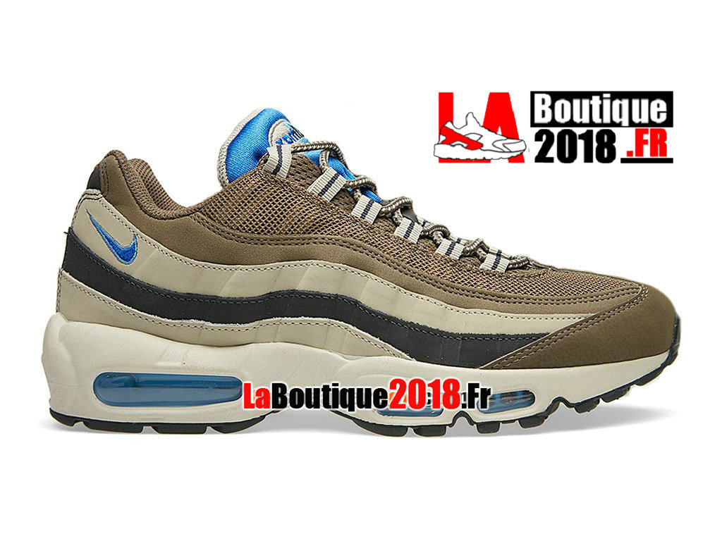 Officiel Nike Air Max 95 - Nike Boutique Chaussure Nike Sneaker Pas Cher Pour Homme Dune sombre/Beige craie/Anthracite/Hyper cobalt 609048-203