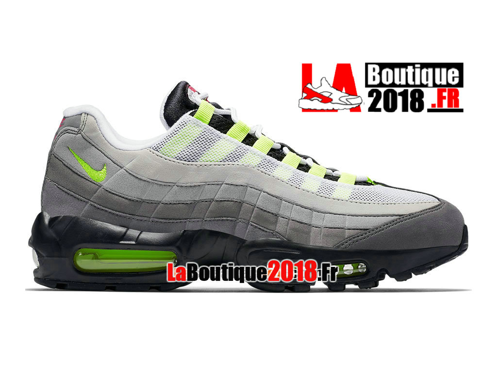 "Officiel Nike Air Max 95 OG ""What The""/""Greedy"" QS - Chaussures Nike Sneaker Pas Cher Pour Homme Noir/Orange éclatant/Volt 810374-078"