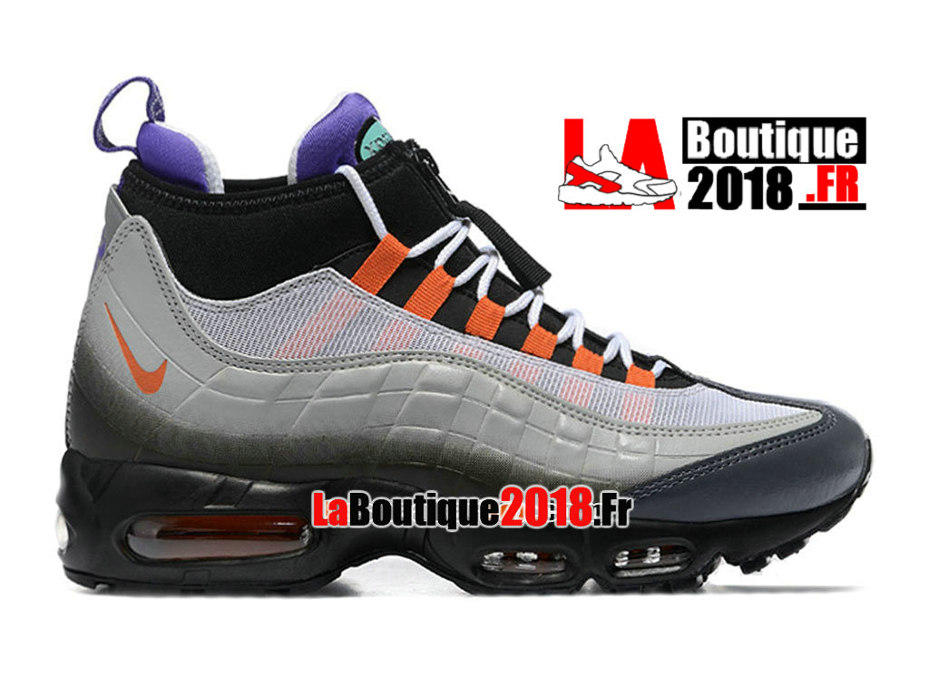Officiel Nike Air Max 95 SneakerBoot - Botte Nike Sneaker Pas Cher Pour Homme Noir/Orange éclatant/Volt 806809-078